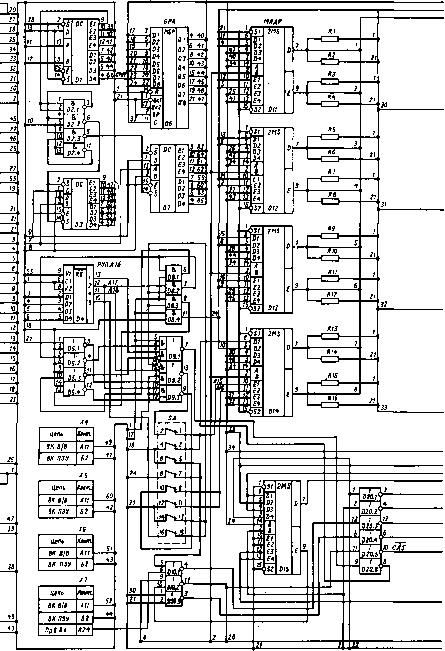 Кош.  Рис.8. 13.  Принципиальная схема модуля памяти и интерфейса 170.