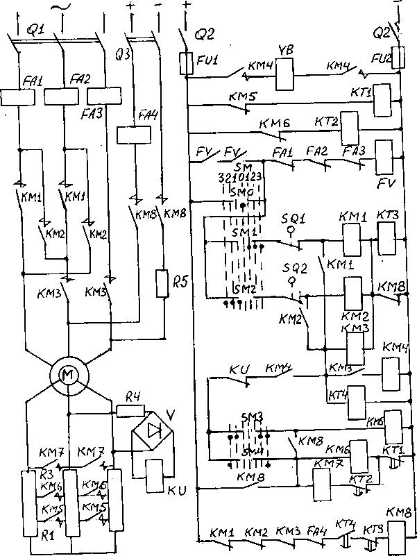 с фазным ротором.  Рис.  Д.2 Схема управления асинхронным двигателем. стр.10. стр.11. стр.12. стр.13. стр.14. стр.15...