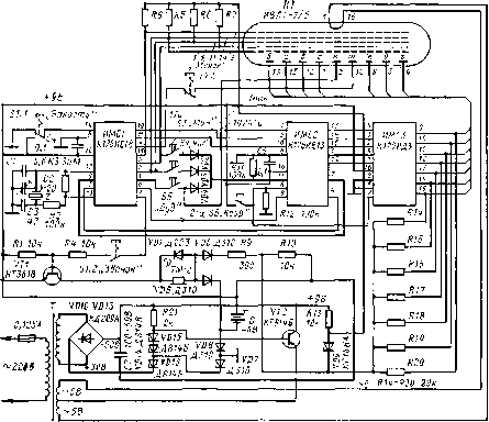 электрическая схема часов электроника